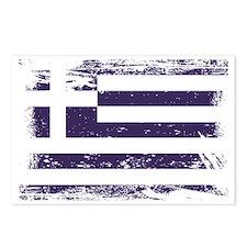 Grunge Greece Flag Postcards (Package of 8)