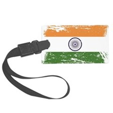 Grunge India Flag Luggage Tag