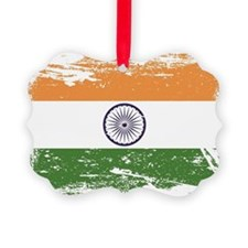 Grunge India Flag Ornament