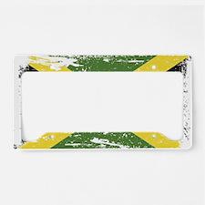 Grunge Jamaica Flag License Plate Holder