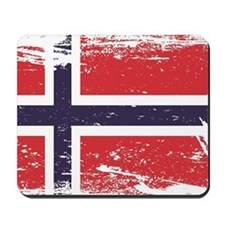 Grunge Norway Flag Mousepad