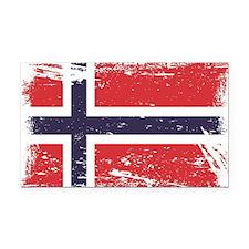 Grunge Norway Flag Rectangle Car Magnet