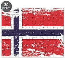 Grunge Norway Flag Puzzle