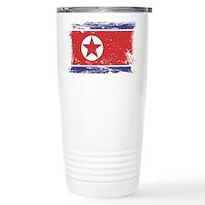Grunge North Korea Flag Travel Mug