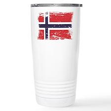 Grunge Norway Flag Thermos Mug