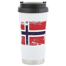 Grunge Norway Flag Travel Mug
