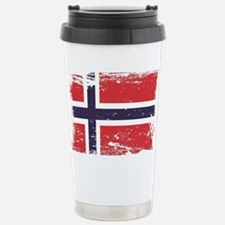 Grunge Norway Flag Travel Mug