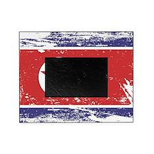 Grunge North Korea Flag Picture Frame