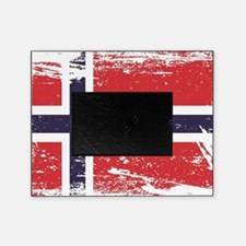 Grunge Norway Flag Picture Frame