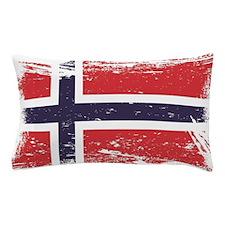 Grunge Norway Flag Pillow Case