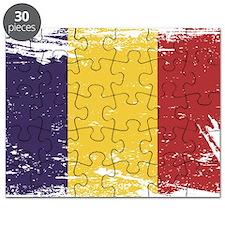 Grunge Romania Flag Puzzle