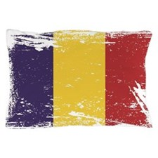 Grunge Romania Flag Pillow Case