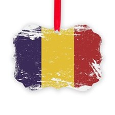 Grunge Romania Flag Ornament
