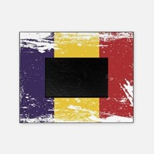Grunge Romania Flag Picture Frame