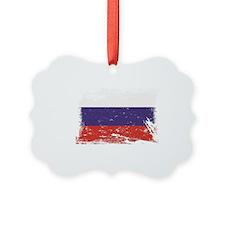 Grunge Russia Flag Ornament
