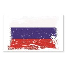 Grunge Russia Flag Decal