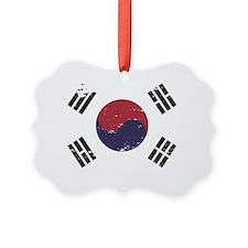 Grunge South Korea Flag Ornament