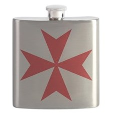 Red Maltese Cross Flask