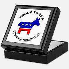 Proud Virginia Democrat Keepsake Box