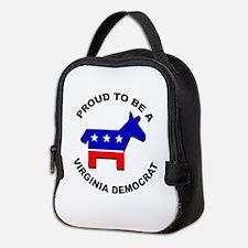 Proud Virginia Democrat Neoprene Lunch Bag