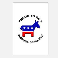Proud Virginia Democrat Postcards (Package of 8)