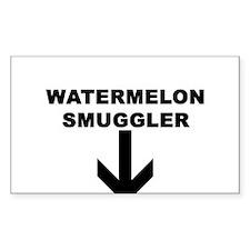 WATERMELON SMUGGLER Rectangle Decal