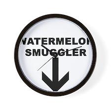 WATERMELON SMUGGLER Wall Clock