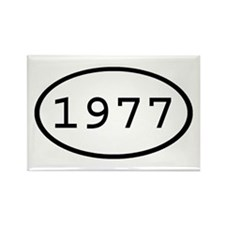 1977 Oval Rectangle Magnet