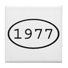 1977 Oval Tile Coaster
