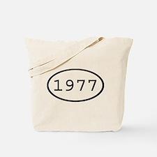 1977 Oval Tote Bag