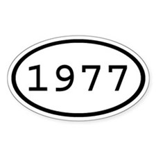 1977 Oval Oval Decal