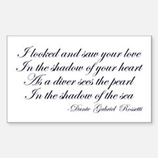 Gabriel Rossetti Rectangle Decal