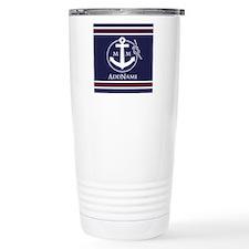 Navy Nautical Rope and Travel Mug