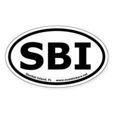 "Sanibel Island, Florida ""SBI"" oval sticker."
