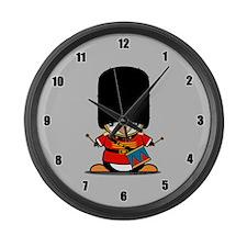Nutcracker Penguin Large Wall Clock