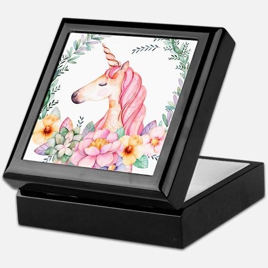 Pink Unicorn Keepsake Box