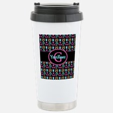 Modern Monogram Cupcakes Girly Travel Mug