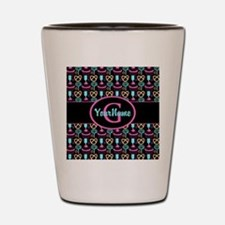 Modern Monogram Cupcakes Girly Shot Glass