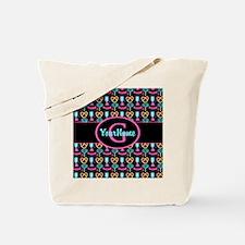 Modern Monogram Cupcakes Girly Tote Bag
