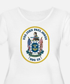 USS John Paul Jones DDG-53 Plus Size T-Shirt