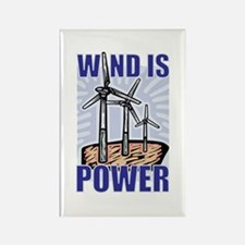 Wind Is Power Rectangle Magnet