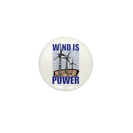 Wind Is Power Mini Button (10 pack)