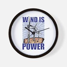 Wind Is Power Wall Clock