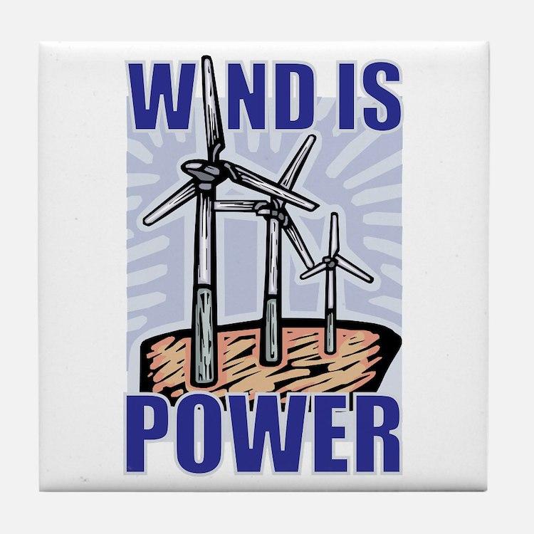 Wind Is Power Tile Coaster