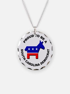 Proud South Carolina Democra Necklace
