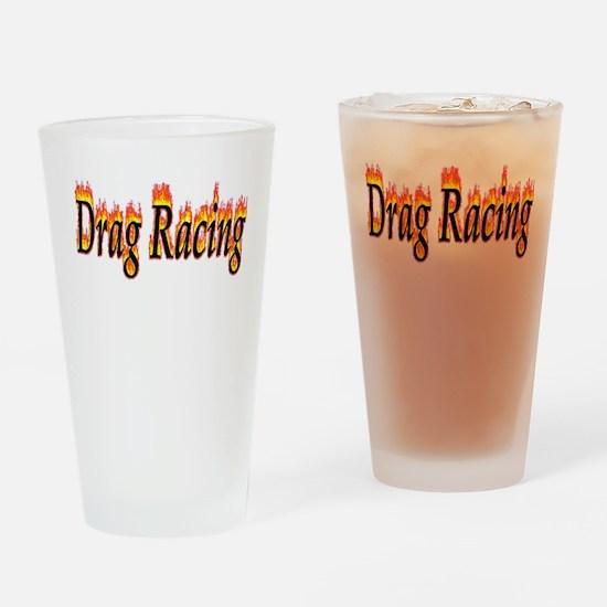 Drag Racing Flame Drinking Glass