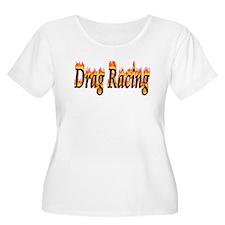 Drag Racing Flame Plus Size T-Shirt