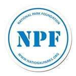 Npf Round Car Magnet (blue)