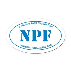 Npf Oval Car Magnet (blue_
