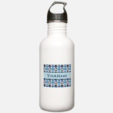 Sailor Nautical Monogram Personalized Water Bottle